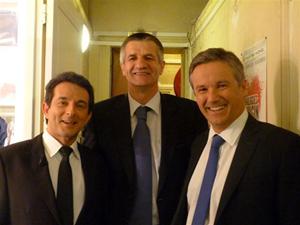 Avec Jean LASSALLE et Nicolas DUPONT AYGNAN